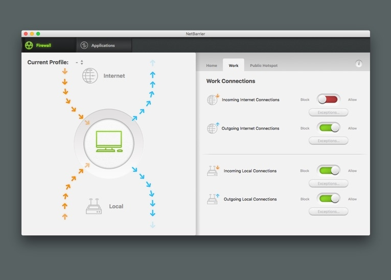 Capture d'écran Intego ContentBarrier Secure X9