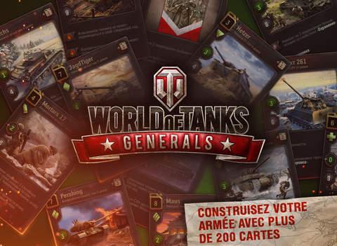 Capture d'écran World of Tanks Generals iOS
