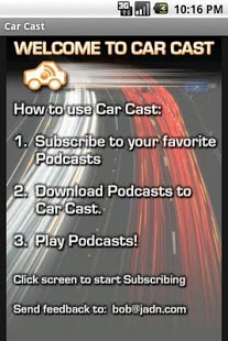 Capture d'écran Car Cast Pro – Podcast Player