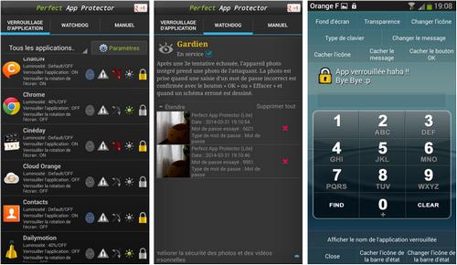Capture d'écran Perfect App Lock Android