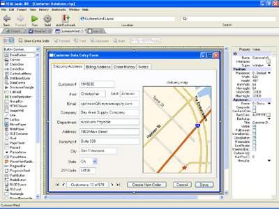 Capture d'écran REALbasic Standard pour Windows