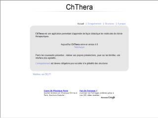 Capture d'écran ChThera