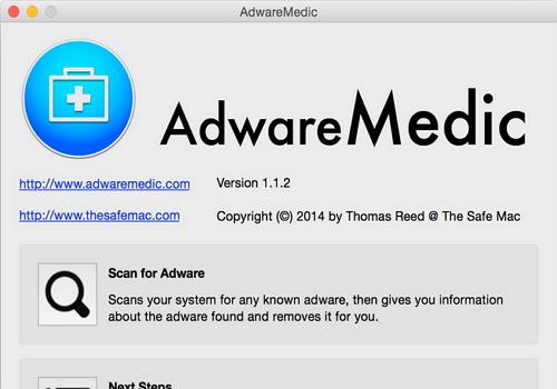Capture d'écran AdwareMedic