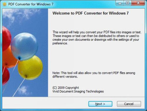 Capture d'écran PDF Converter for Windows 7