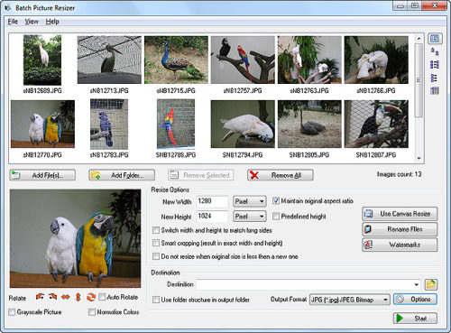 Capture d'écran Batch Picture Resizer
