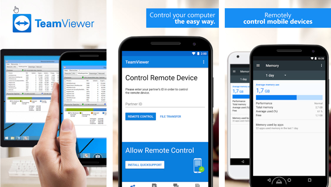 Capture d'écran TeamViewer Android