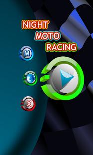 Capture d'écran Course de Moto Nocturne Pilote