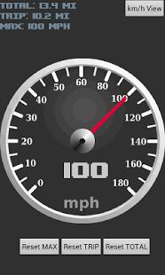 Capture d'écran Compteur de vitesse GPS