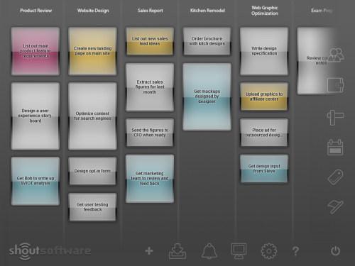 Capture d'écran ShoutDone To Do List Software