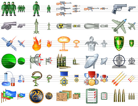 Capture d'écran Military Icon Set