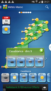 Capture d'écran Météo Maroc