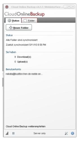 Capture d'écran Cloud Online Backup