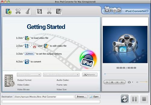 Capture d'écran Bros iPod Converter