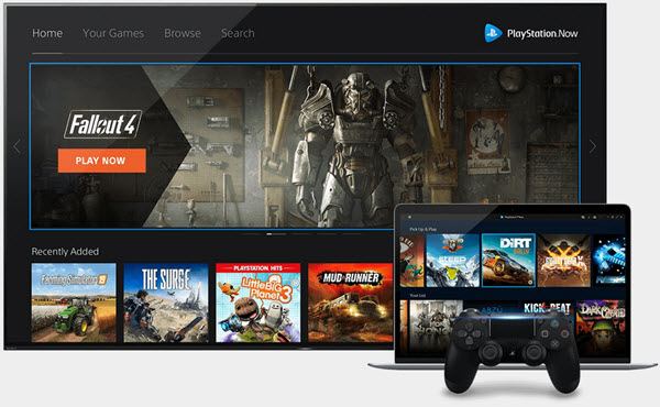 Capture d'écran Playstation Now
