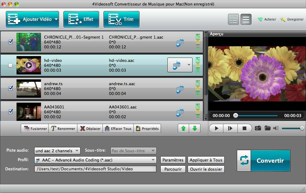 Capture d'écran 4Videosoft Convertisseur de Musique pour Mac