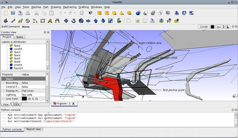 Capture d'écran FreeCAD