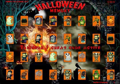 Capture d'écran Halloween Memory