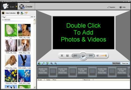 Capture d'écran 4Videosoft Création de diaporama DVD