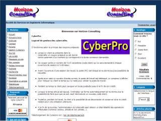 Capture d'écran CyberPro