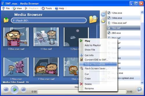 Capture d'écran SWF.max