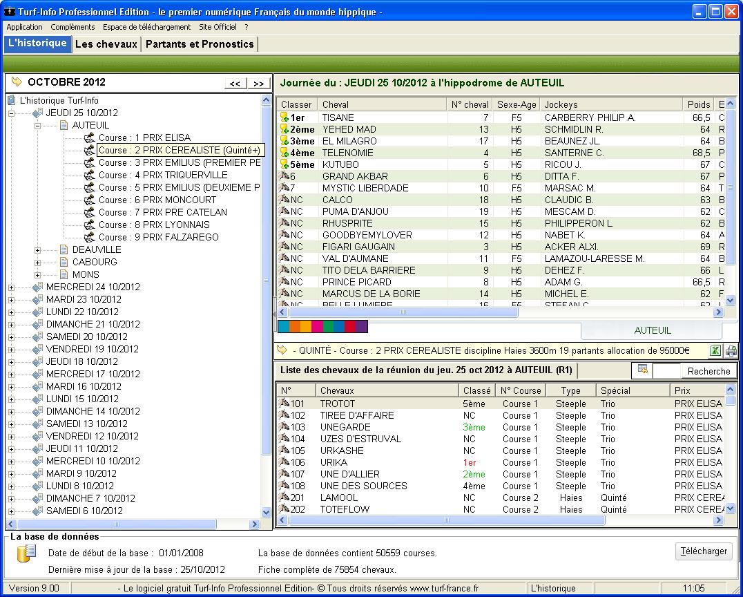 Capture d'écran Turf-Info Pro