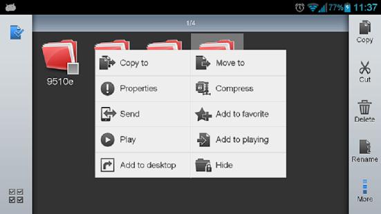 Capture d'écran ES Explorateur de Fichiers