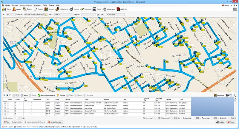 Capture d'écran Optimisation des parcours et gestion des espaces verts
