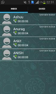 Capture d'écran HD Call Recorder