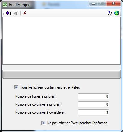 Capture d'écran ExcelMerger