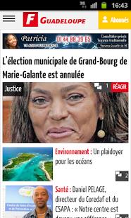 Capture d'écran France-Antilles Guadeloupe