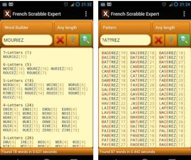 Capture d'écran Scrabble Expert