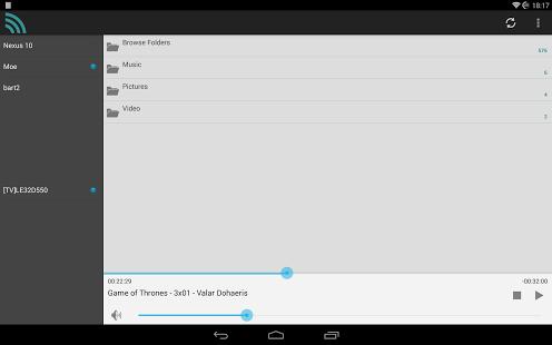Capture d'écran DroidUPnP