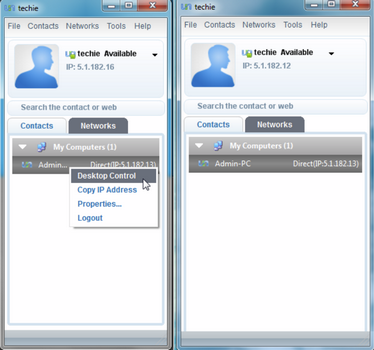 Capture d'écran Comodo Unite