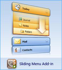Capture d'écran AllWebMenus Sliding Menus Add-in