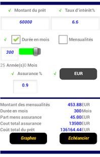 Capture d'écran Simulation credit Pro