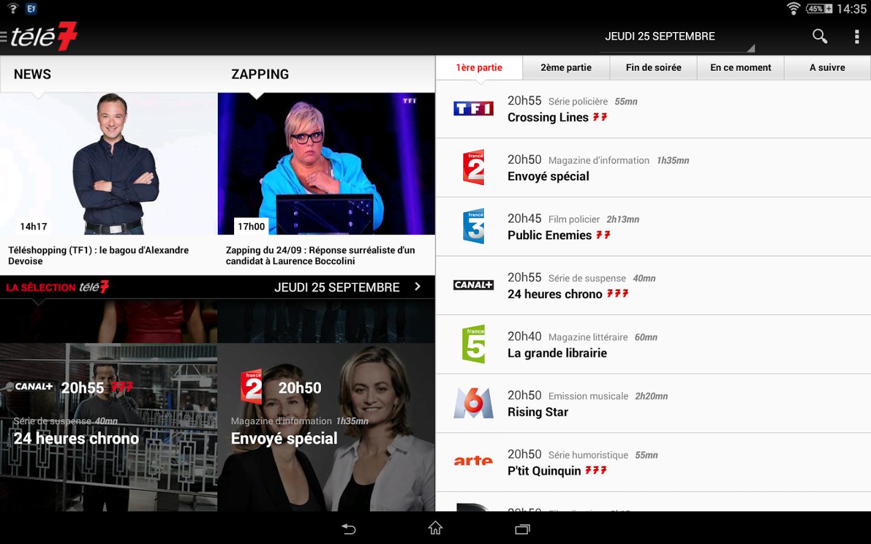 Capture d'écran Télé 7 Jours Programme TV iOS