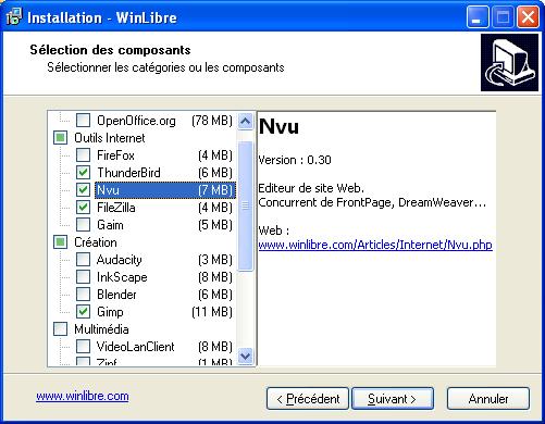 Capture d'écran WinLibre