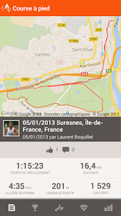 Capture d'écran Strava Course et Cyclisme GPS