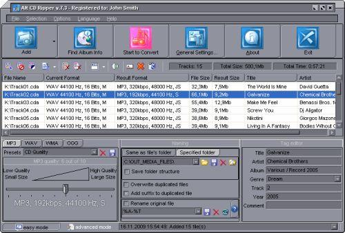 Capture d'écran Alt CD Ripper