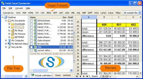 Capture d'écran Total Excel Converter