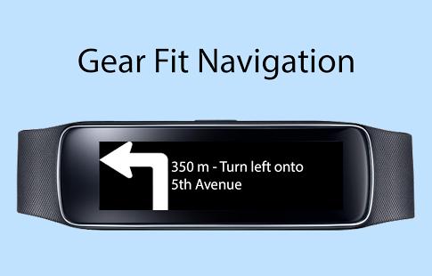 Capture d'écran Gear Fit Navigation