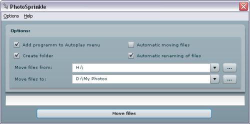 Capture d'écran PhotoSprinkle
