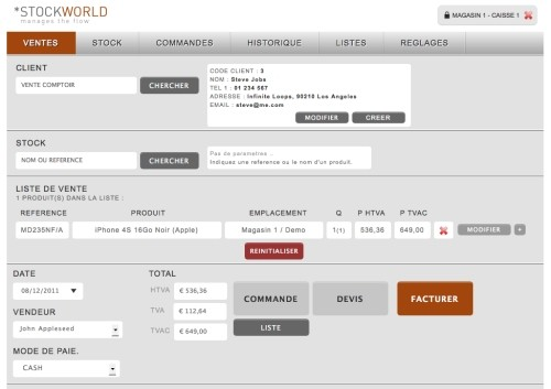 Capture d'écran Stockworld