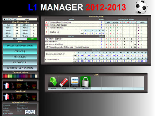 Capture d'écran L1 MANAGER