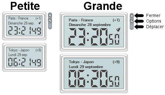 Capture d'écran Horloge Mondiale