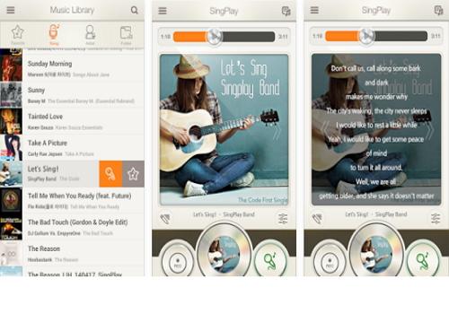 Capture d'écran SingPlay iOS