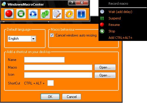 Capture d'écran Windows Macro Center V 1.4.1 (01/09/2014)