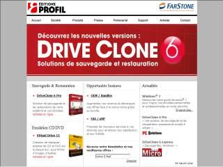 Capture d'écran DriveClone 6 Pro