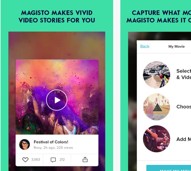 Capture d'écran Magisto, Editeur Vidéo Magique iOS