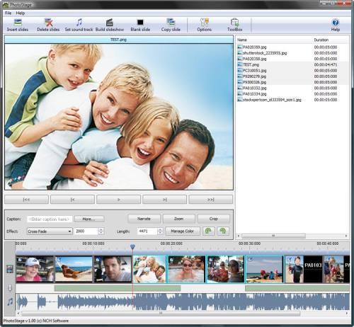Capture d'écran PhotoStage